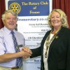 Frome Rotary Club's first lady president