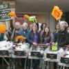 30 trolleys full of plastic returned to supermarket