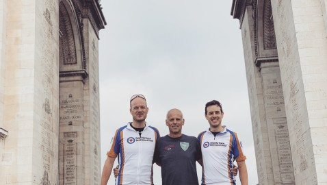 Brothers recreate grandfather's historic  Marble Arch to Arc de Triomphe win