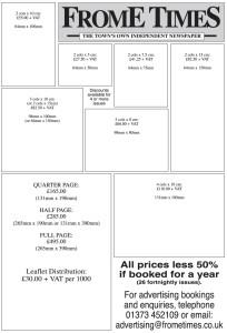 Advert prices