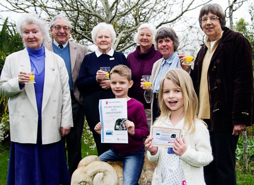 F550 ©DJChedgy LR Angela Daniel Founder member of the Frome Branch of Save the Children 45 Years Ago Raymond Daniel Betty Smith Margaret Waller Marjorie Morris Sue Gale FR LR George Morris aged 8 and Hattie Morris Age 5