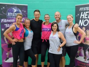Gina Fry (3rd right) with Natalie Lowe and Ian Waite