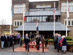 Remembrance at the War Memorial