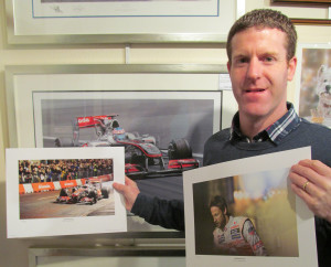 Mark Prince with the Jenson prints