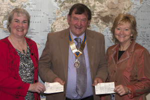 Frome Selwood Rotary hand over £4000 of funds