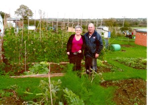 Frome Allotment Association site reps, Gerry and Arthur Gasson.