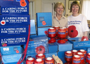 Frome Poppy Appeal collectors Jane Storer and Maggy Daniell.