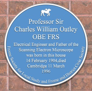 The new plaque for Charles William Oatley