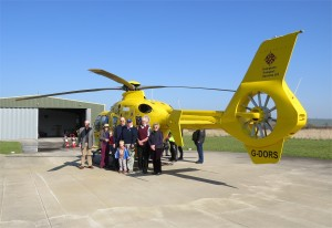Frome Lions with the Somerset Air Ambulance.