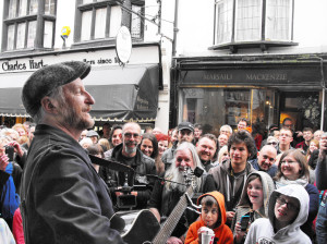 Billy Bragg and the Frome crowd.