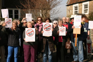 267 bus campaigners in Rode
