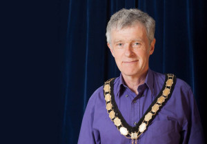 New mayor Peter Macfadyen.