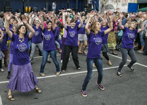 Festival Feast, Positive Action on Cancer Flash Mob