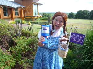 A Dorothy House Hospice Care supporter dressed as Dorothy!