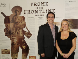 l-r, BBC Radio Somerset presenter Vernon Harwood with Sue Bucklow from Frome Museum