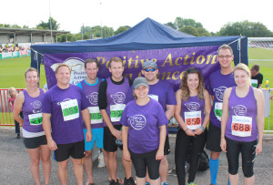 The PAC half marathon team