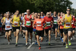 The runners take to Frome's roads.