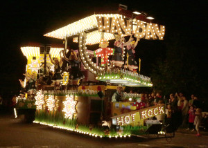 "Hot Rock Carnival Club and their float ""Hay Day"" at  Frome Carnival 2014"