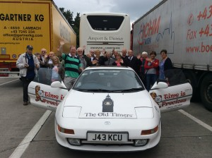 The Old Timers' in Germany with a coach passengers on a Frome-based Lesmon Travel trip.