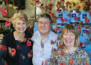Liz Hudson, Alan Peto & Maggie Daniell from the Poppy Appeal