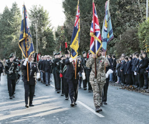 The remembrance procession.