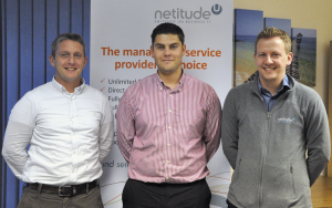 Adam Harling Managing Director, Josh Bradley Operations Manager and Nathan Charles Technical Sales Manager