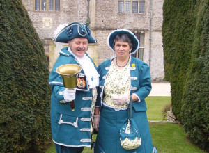 Town Crier Mike Bishop and his wife Angie.