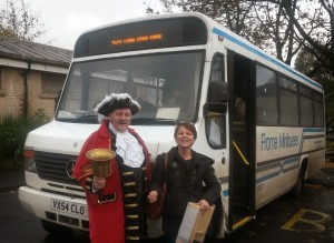 Mike Bishop Tracey Harding make their rallying cry for Frome buses