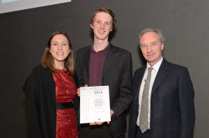 Dickon Hooper receives the award for the Silk Mill.