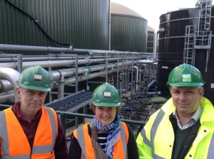 Cllr Peter Macfadyen and Cllr Pippa Goldfinger with Thomas Minter, director of Malaby Biogas and one of the speakers confirmed for the Frome Energy Conference