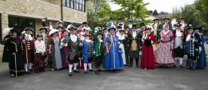 Competitors in the Town Criers contest