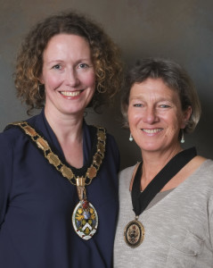 Mayor Kate Bielby and her deputy Ali Barclay