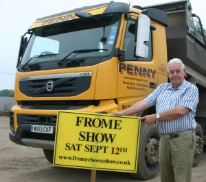 Roger Penny with one of his lorries