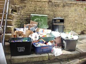 Rubbish on Catherine Hill