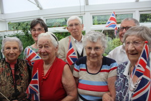 L-R Edith Knight, Jane Norris (RBL), Gwen Dunford, Jo Dismore, Arlene Cooper, Ron Stone and Midge Skene