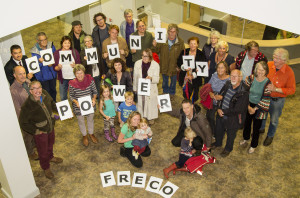 FRECO members celebrate the switch on