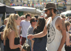 Russell Brand at the Frome Independent Market