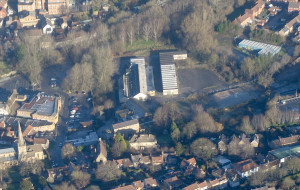 An aerial view of the Saxonvale site