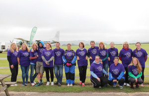 Fundraising skydivers who raised over £8,000