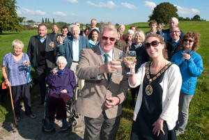 Martyn Brake and Mayor Kate Bielby toast the new venture