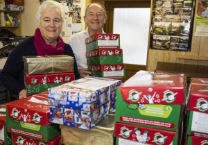 Carol and Jim Short have collected over 50 boxes already.