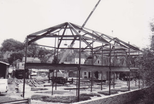 Frome Library under construction