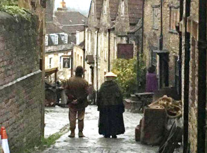 Poldark filming in Gentle Street - picture by Alex Hunt