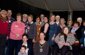 Mayor, Kate Bielby celebrates with the many different volunteers and organisations including  Active and In Touch, Active Living, Somerset You Can do, Fair Frome and The Men's Shed.